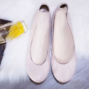 J.Crew Leather Italy Flats 8.5 Nude Cece Shoes